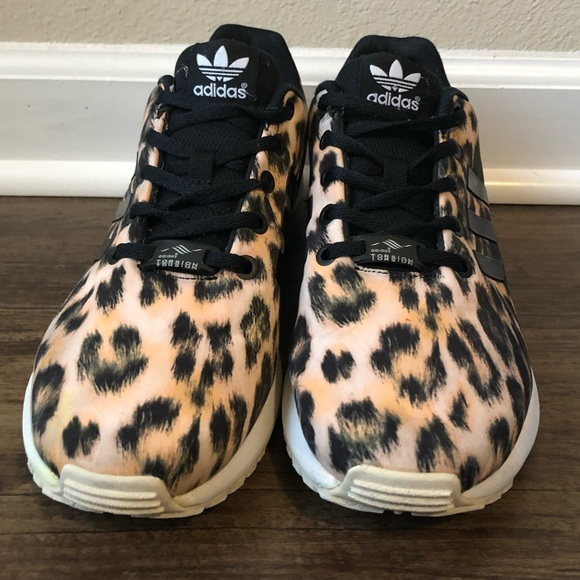 f2cb9eff3 adidas Shoes - ADIDAS Cheetah Print ZX FLUX K Sneakers Size 7